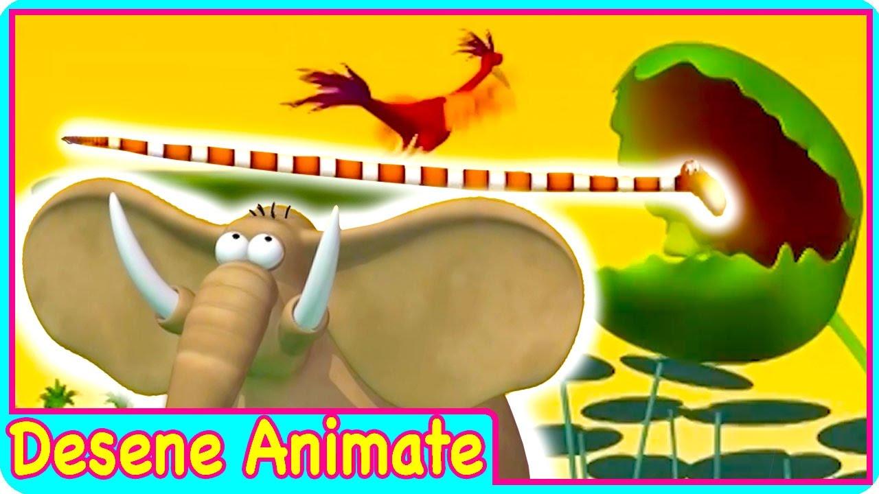 Desene animate pentru copii Gazun elefantul amuzant FALCILE MARI desene in romana episod nou