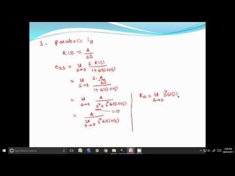 Static Error Constants  Position Velocity Acceleration