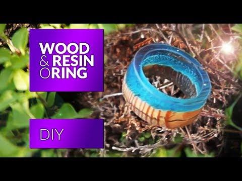 Resin wood ring How to make Secret Wood Ring