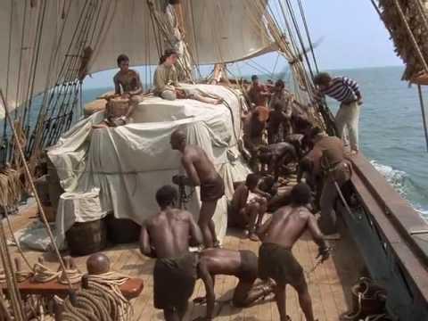 Kounta Kinte sur le pont du navire négrier