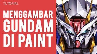 Menggambar Gundam di Paint TUTORIAL 3