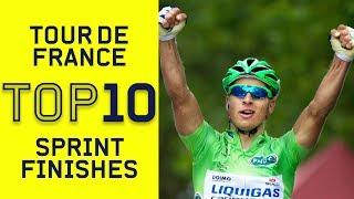Top 10 Sprint Finishes | Tour de France | Cycling | Eurosport