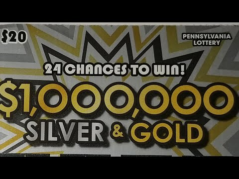NEW $20 Silver & Gold Power Play.  WINNERS. Pa lottery scratch tickets.