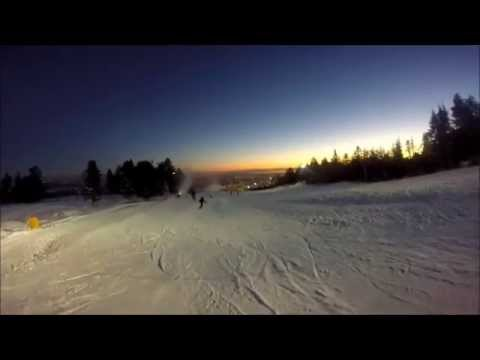 Snowboarding at Grouse Mountain