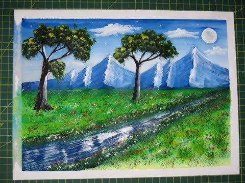 Cómo Pintar Una Montaña Con Tempera