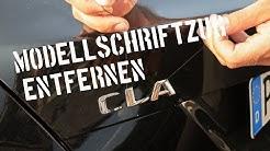 Modellschriftzug entfernen - CareWerk² - Mercedes Benz CLA