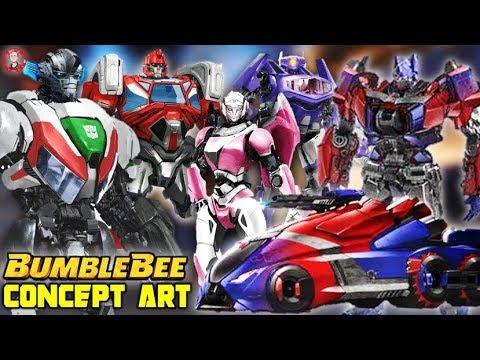 Transformers Bumblebee Movie Cybertron Concept Art Autobots Decepticons Alt Modes