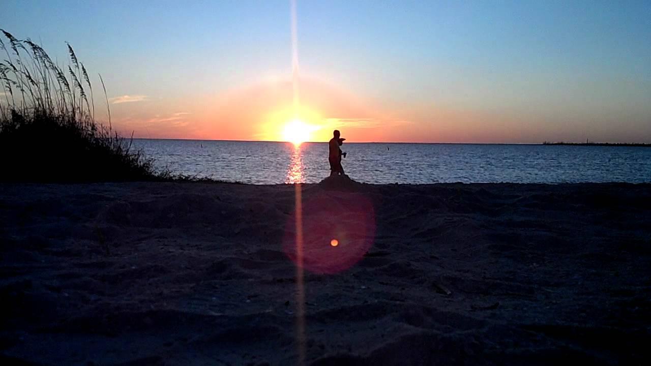 Sunset Beach Florida Sun Setting Tampa Bay Fl