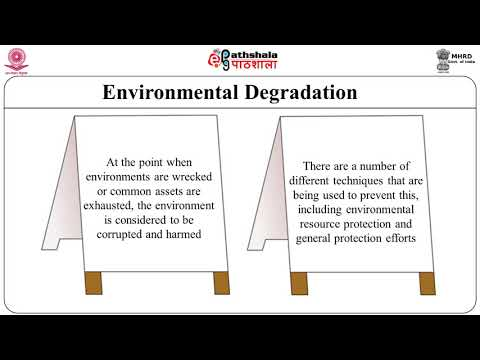 Degradation of environment and role of society