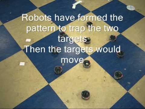 Morphogenetic robotics: swarm robots for mobile target entrapping Travel Video