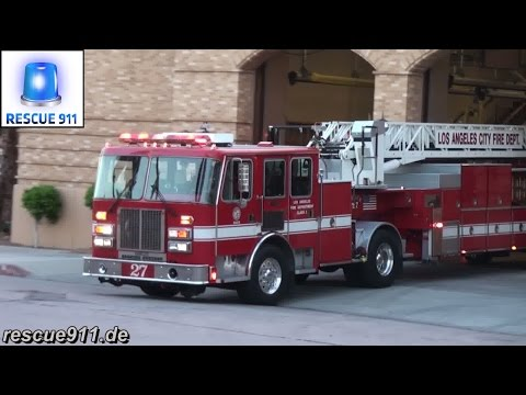 [LAFD] Light Force 27 + Rescue 27 + Engine 27 Los Angeles Fire Department