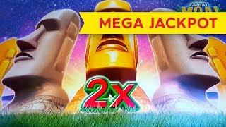 MEGA JACKPOT HANDPAY! Great Moai Slot - $30 BET - UNBELIEVABLE!