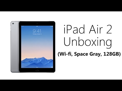 IPad Air 2 Unboxing & Setup (Wifi, Space Gray, 128GB)