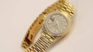 Les montres Rolex Oyster Lady Or & Diamants Réf 69158 d'occasion de demcoquartz.com