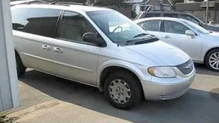 2001 Chrysler Town and Country Repo First Start and Full Tour