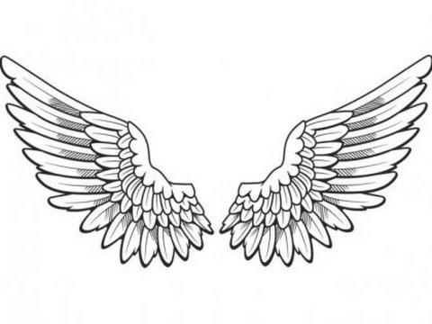 Как нарисовать крылья для детей