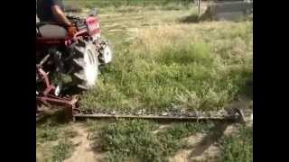 Agro KG Шағын трактор Shibaura отырып, қолдан істелген косилкой .Бейне-таныстыру.