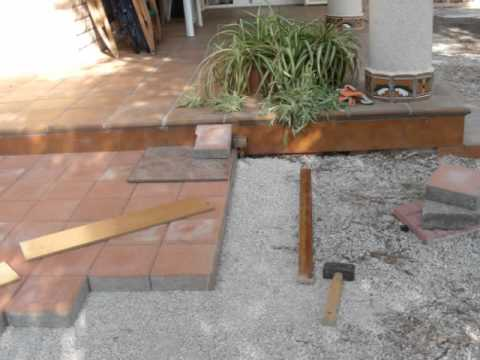 Adoquinado de patio youtube for Adoquines para jardin
