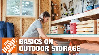 Basics On Outdoor Storage Options - The Home Depot