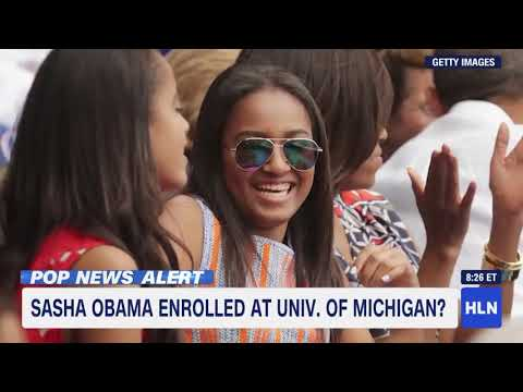 Obama's youngest daughter starts college at University of Michigan