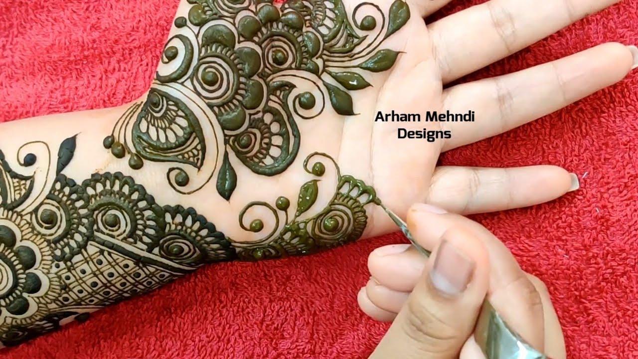arham mehndi front simple arabic mehndi designs