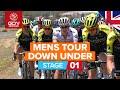 Santos Tour Down Under 2020 Stage 1 HIGHLIGHTS | Ziptrack Stage 1: Tanunda