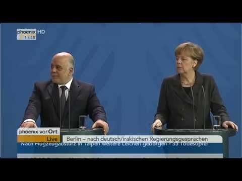 Beziehungen mit Irak: PK mit Merkel und Al-Abadi am 06.02.2015