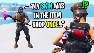 I met a super rare TRACKER skin in Fortnite... (LAST SEEN 310 DAYS AGO!)