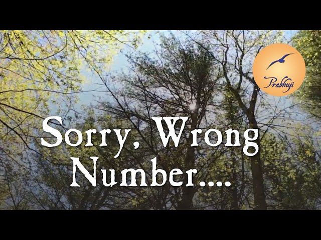 Sorry, wrong number.... - by Prabhuji
