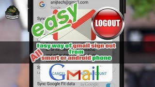 How to sign out or logout gmail from android or smart phone ? | Anijtech