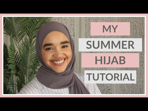 MY GO TO SUMMER HIJAB STYLE - TUTORIAL - THREE IN ONE | #TheSewist #hijabtutorial  #hijabstyle thumbnail