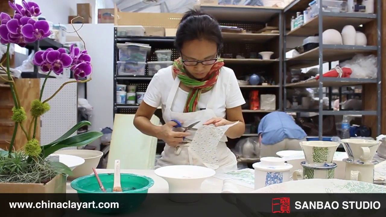 Sanbao ceramic underglaze decal tutorial
