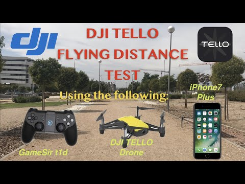 DJI Tello maximum flying distance with an iPhone and t1d Remote controller