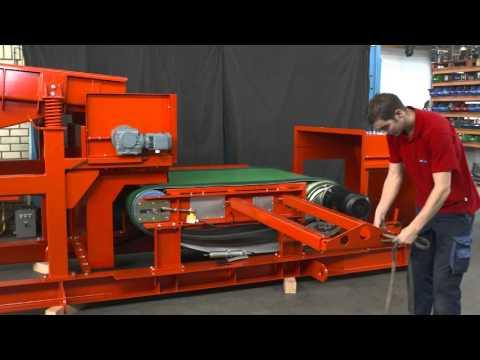 Goudsmit magnetics Eddy Current conveyor belt replacement demo