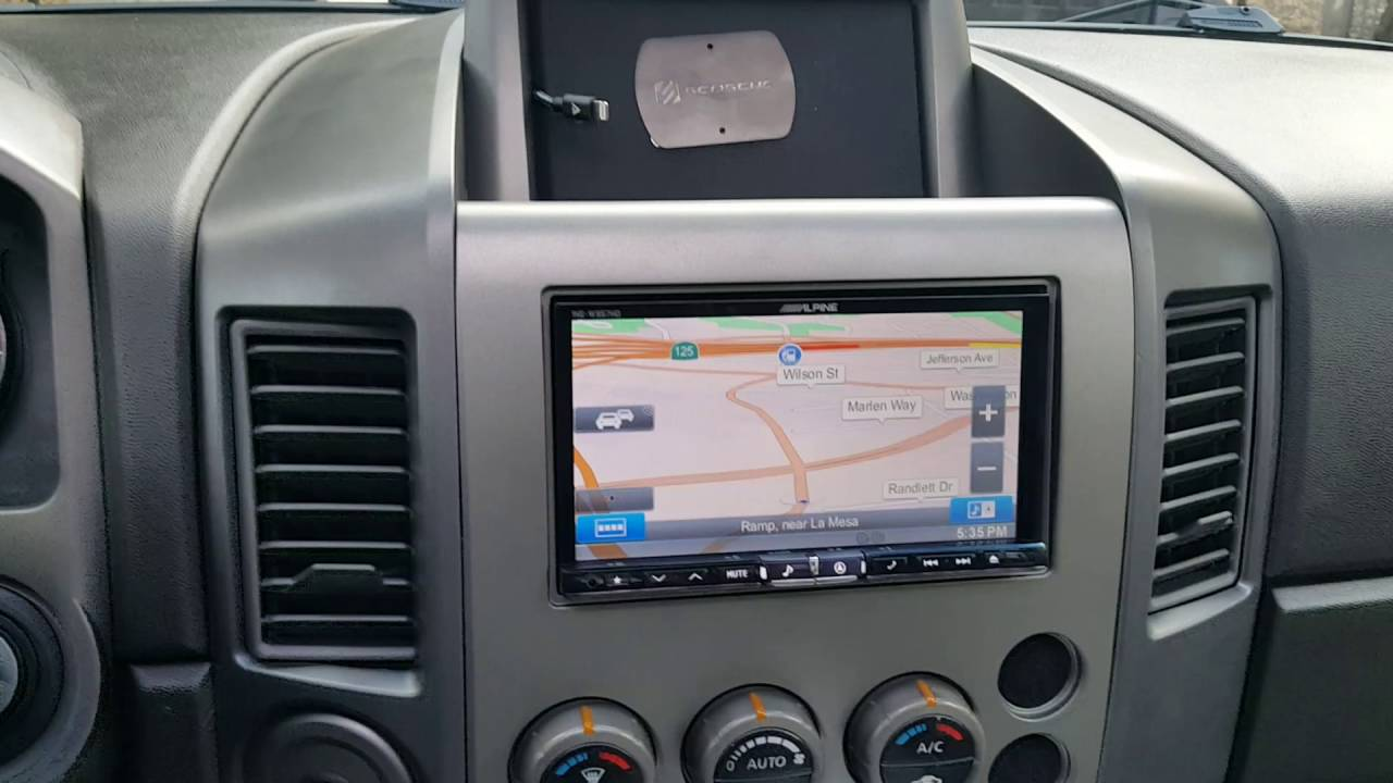 2006 nissan titan stereo upgrade and retaining the factory rear seat dvd al eds autosound la mesa [ 1280 x 720 Pixel ]