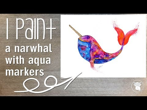 Spectrum Aqua makers watercolour, watercolor narwhal