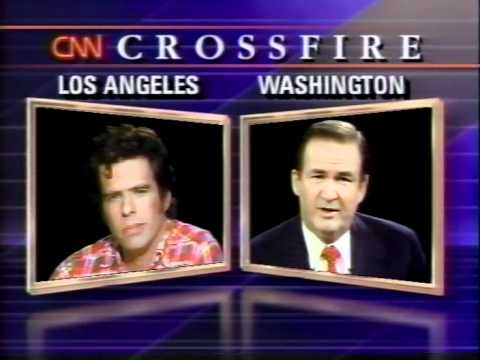 Mojo Nixon vs. Pat Buchanan / CNN Crossfire 1990 (part 1)