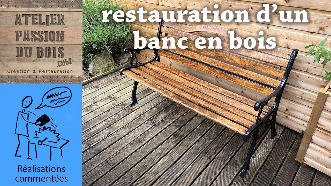 Vieux Banc De Jardin restauration d'un banc en bois