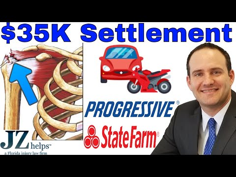 $35K Rotator Cuff Tear Settlement: Progressive & State Farm (Motorcycle)