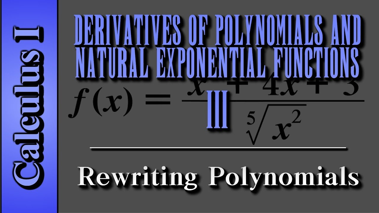 Calculus I: Derivatives of Polynomials and Natural Exponential ...