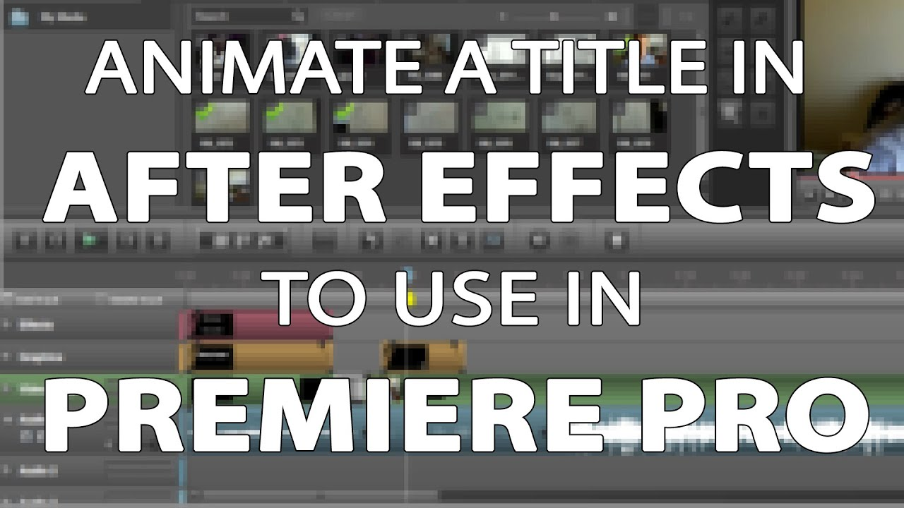 how to add effects to titles in premiere pro
