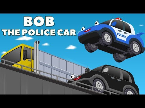 Bob The Police Car on a Mission to find a Missing Ba car w Red Super Car Cartoon for Kids