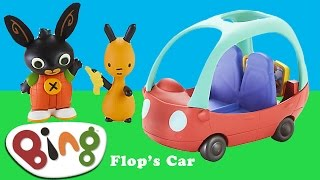 Bing Bunny Cbeebies Flop's Car Toy unboxing BBC Cbeebies  Bing TV Show | Kids Play O'clock