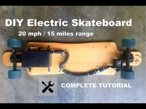 HOW TO MAKE DIY Electric Skateboard COMPLETED TUTORIAL