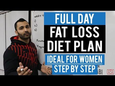Full Day FAT / WEIGHT LOSS DIET PLAN for WOMEN! (Hindi / Punjabi)