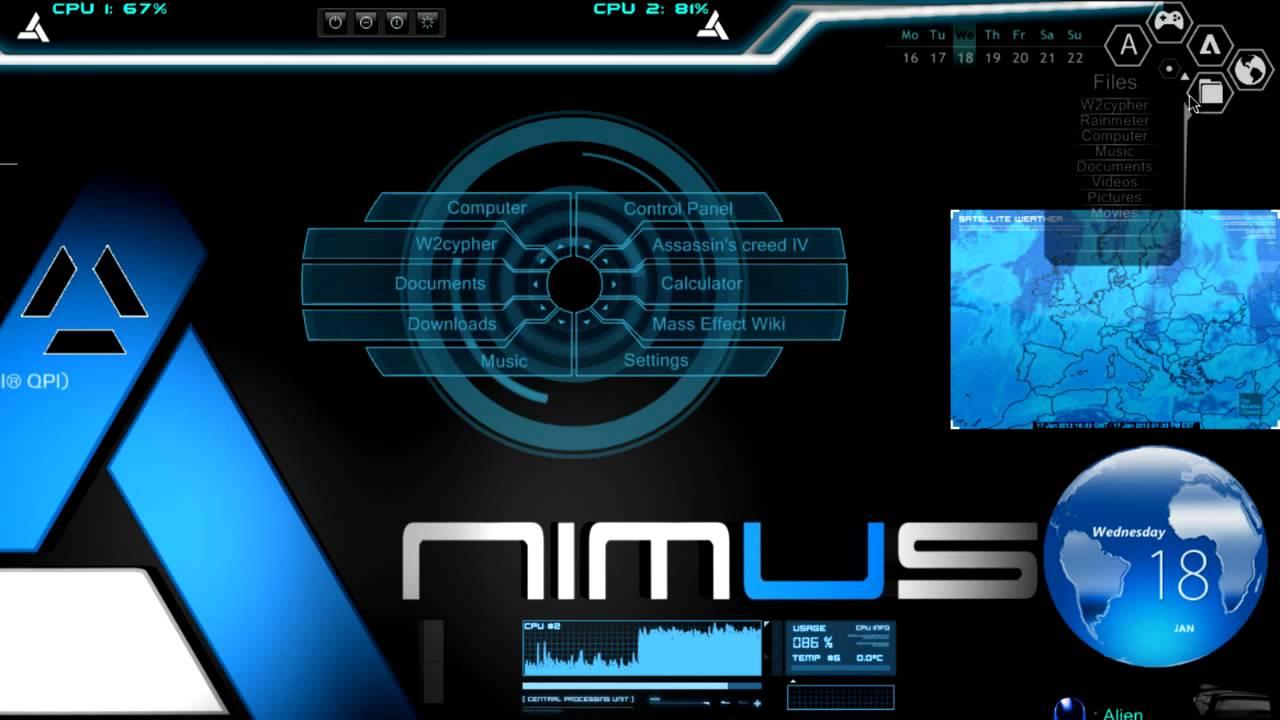 Animus Desktop Rainmeter Ae Effect Youtube