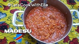 Madesu na Ntaba/ Beans & Goat Meat Stew/ Congolese Food