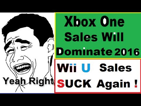 WTF! Xbox One  Will Dominate In 2016. Nintendo SUCKS  and its Wii U's Fault.$457 Million Loss
