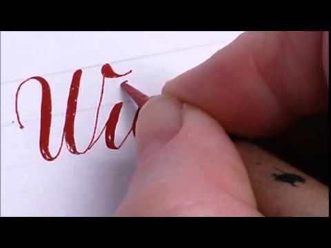 Kalligrafie - Making of ... Eintrag ins Goldene Buch video zum blogpost
