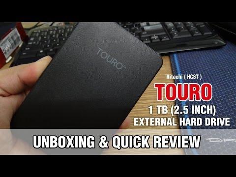 Hitachi  Touro Mobile - External Hard drive 1 TB Unboxing & Quick review